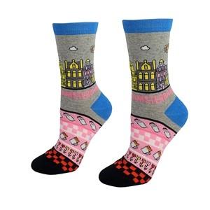 Moteriškos pilkos/rožinės kojinės Amsterdam, dydis:(36-42)