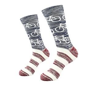 Spalvingos vyriškos kojinės su dvyračiais, dydis: (40-45)