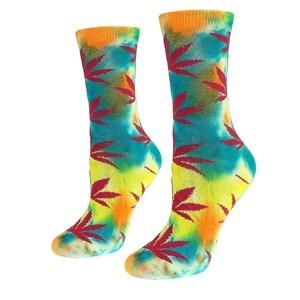 Moteriškos kojinės su kanapėmis vaivorykštės spalvos