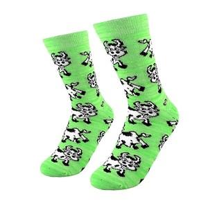 Žalios moteriškos kojinės su karvutėmis, dydis:(36-42)