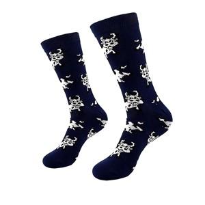 Mėlynos vyriškos kojinės su karvėmis, dydis:(40-45)
