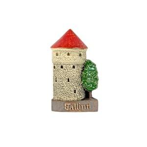 Rankų darbo keramikinis magnetas Talinas