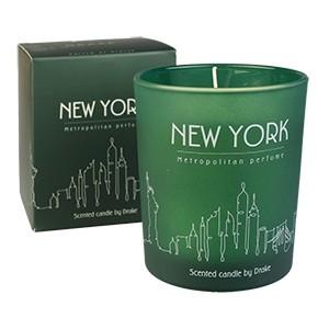 """Natūralaus vaško aromatinė žvakė """"Didmiesčio aromatas - NEW YORK"""" 75 val."""