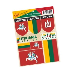 Lipdukų rinkinys - LIETUVA Trispalvė/Vytis