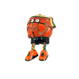Rankų darbo keramikinis magnetas krepšinio kamuolys Lithuania