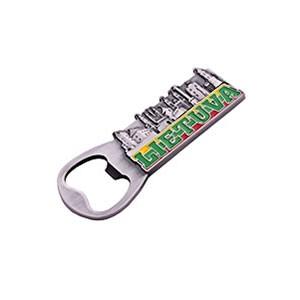Suvenyras metalinis magnetas - butelio atidarytuvas Lietuva Miestai