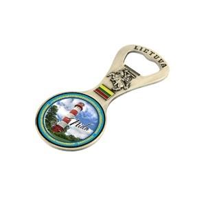 Metalinis magnetas - butelio atidarytuvas Nida švyturys