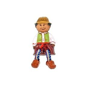 Rankų darbo keramikinis magnetas berniukas Lietuva