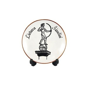 Porcelianinė lėkštutė su magnetu Lietuva, Šiauliai