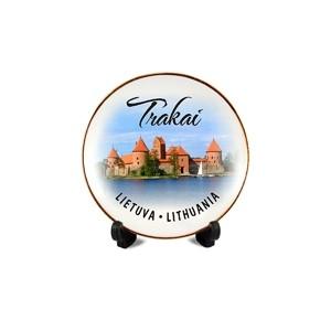 Porcelianinė lėkštutė su magnetu Trakai, Lietuva