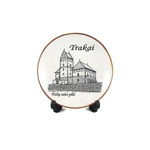 Porcelianinė lėkštutė su magnetu Trakų salos pilis