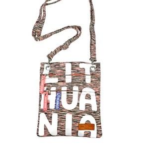 Fuksija sportinio stiliaus kaklo piniginė Lithuania