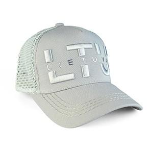 Pilka kepurė nuo saulės su tinkleliu LTU Lietuva
