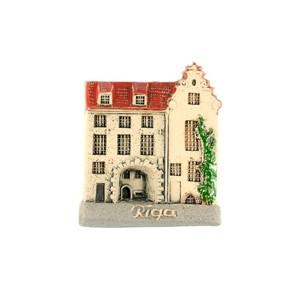 Rankų darbo keramikinis magnetas Švedų vartai, Ryga