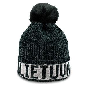 Ypatingai švelnaus akrilo juodos spalvos trumpa žieminė kepurė Lietuva