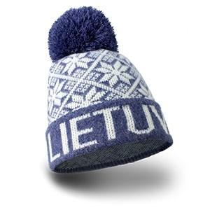 Raštuota trumpa žieminė kepurė Lietuva violetinės spalvos - Robin Ruth