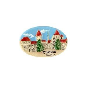 Rankų darbo keramikinis magnetas Vyrų Vartai Talinas