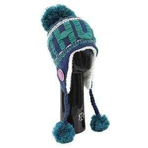 Mėlyna žieminė kepurė su bumbulais LIETUVA - Robin Ruth