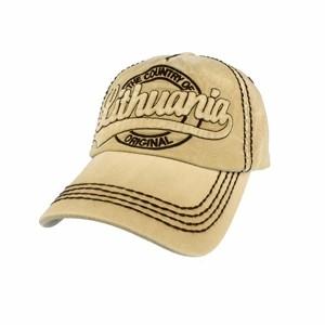 """Smėlio spalvos džinsinė kepurė """"Lithuania Country of Original"""""""