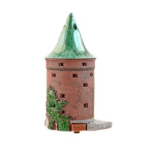 Rankų darbo keramikinis suvenyras Parako bokštas Ryga