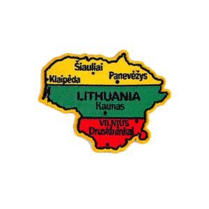 Antsiuvas - Lietuvos žemėlapis