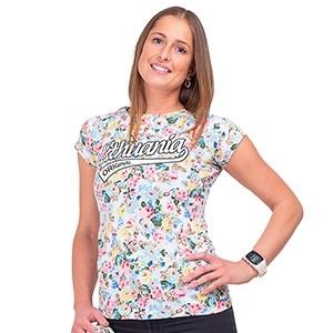 Moteriški balti gėlėti marškinėliai Lithuania Original