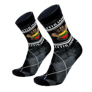 Vyriškos juodos kojinės Lithuania, dydis:(40-45)
