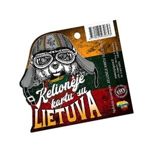 """Lipdukas suvenyras """"Kelionėje kartu su Lietuva"""""""