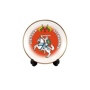 Porcelianinė lėkštutė su magnetu Lietuva - Vytis