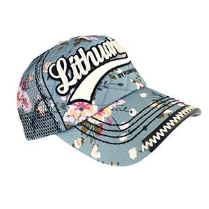Gėlėta kepurė su tinkleliu Lithuania by Robin Ruth Šviesiai mėlyna