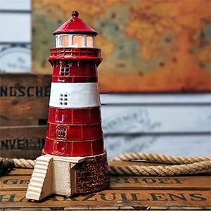 Rankų darbo keramikinis švyturys žvakidė – Mokkalasset Norvegija