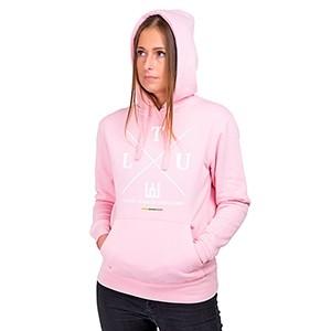 Šviesiai rožinis moteriškas džemperis su kapišonu LTU