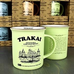 Žalsvos spalvos suvenyrinis puodelis Trakai 280ml