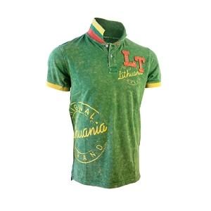 """Garinti žali Polo marškinėliai """"LT Style Lithuania"""""""