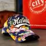 Mėlyna gėlėta kepurė Hawaii