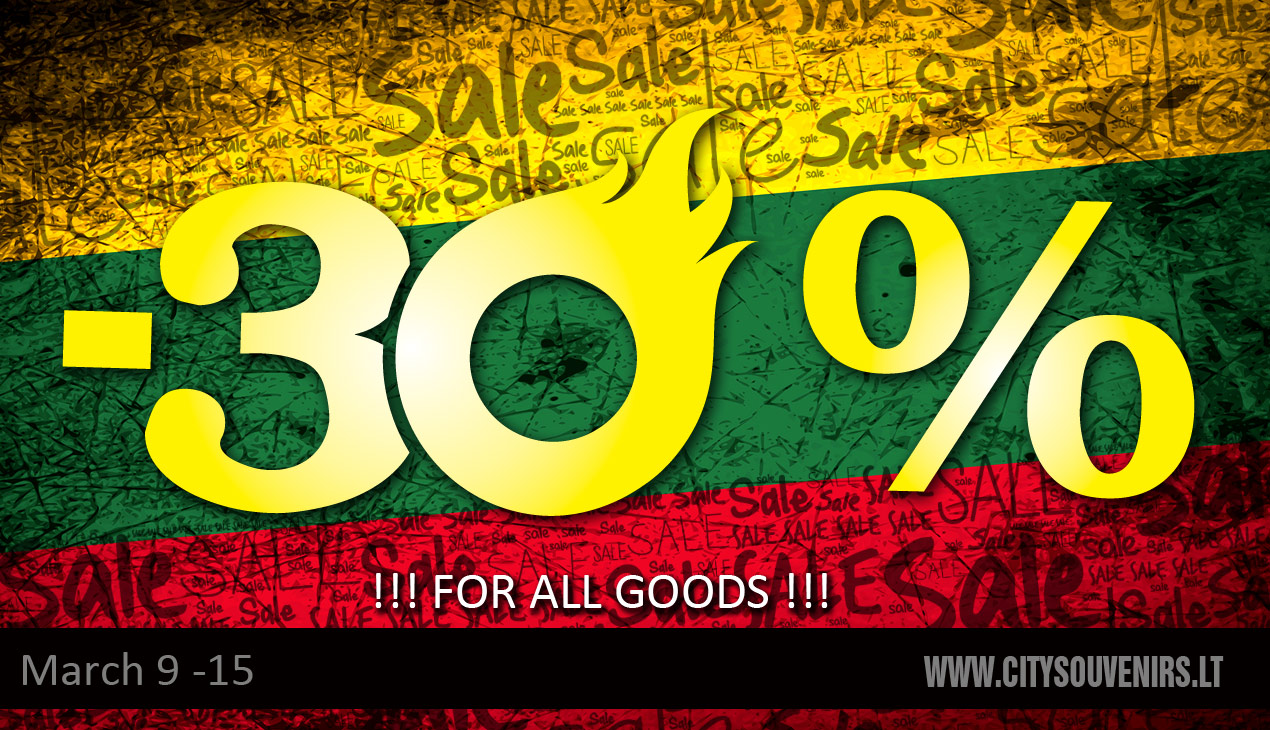 30% Discount for all goods