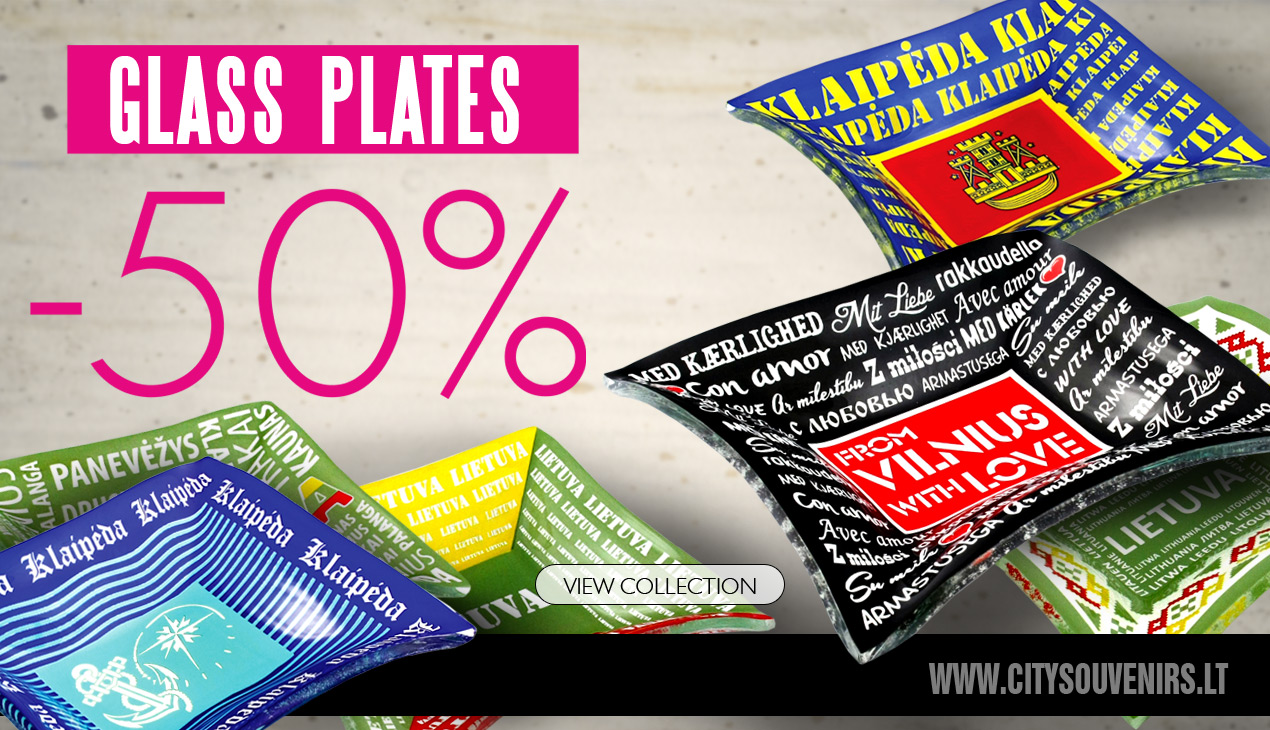 50% discount for the glass plates