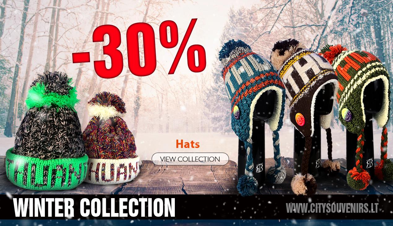 ziemos kolekcija kepures