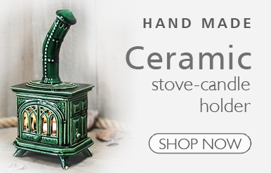 Stove candle holder